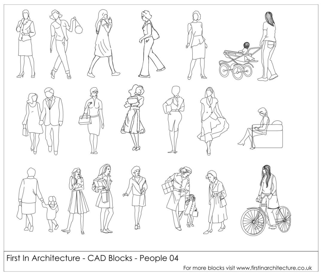 FIA CAD Blocks People 04 FI