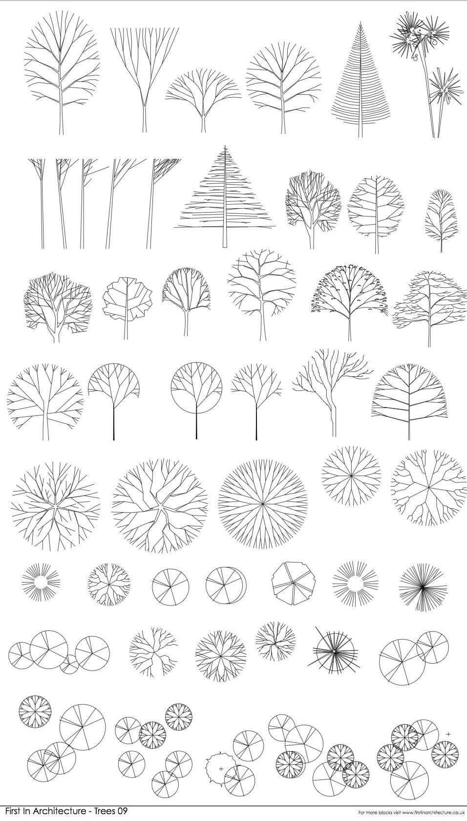 FIA CAD Blocks Trees 09