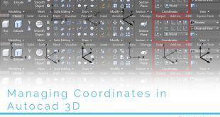 Managing coordinates in autocad