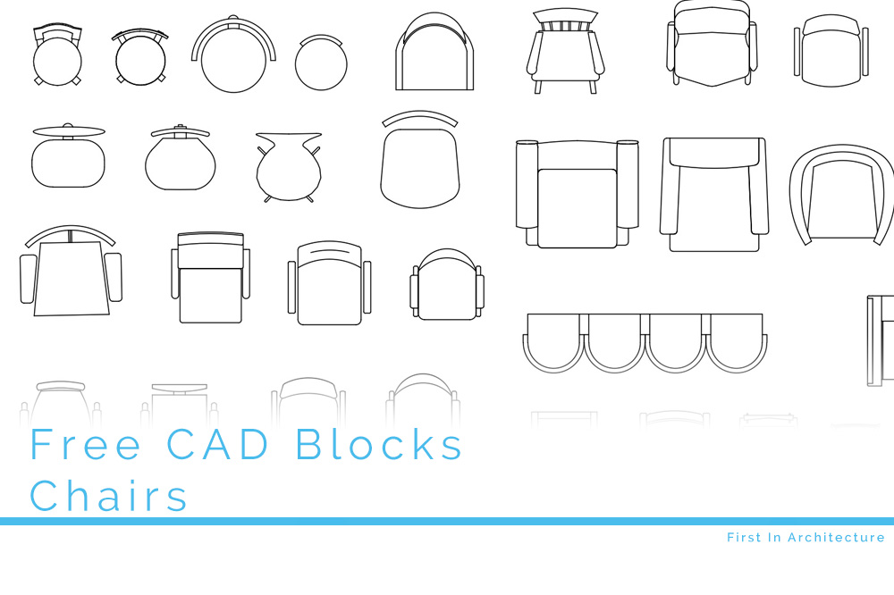 Free CAD Blocks  Chairs in Plan  First In Architecture