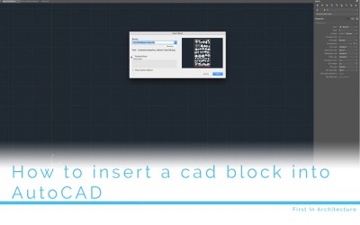 How to insert a block into AutoCAD