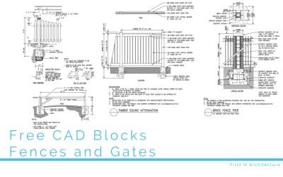 Free CAD Blocks – Fences and Gates