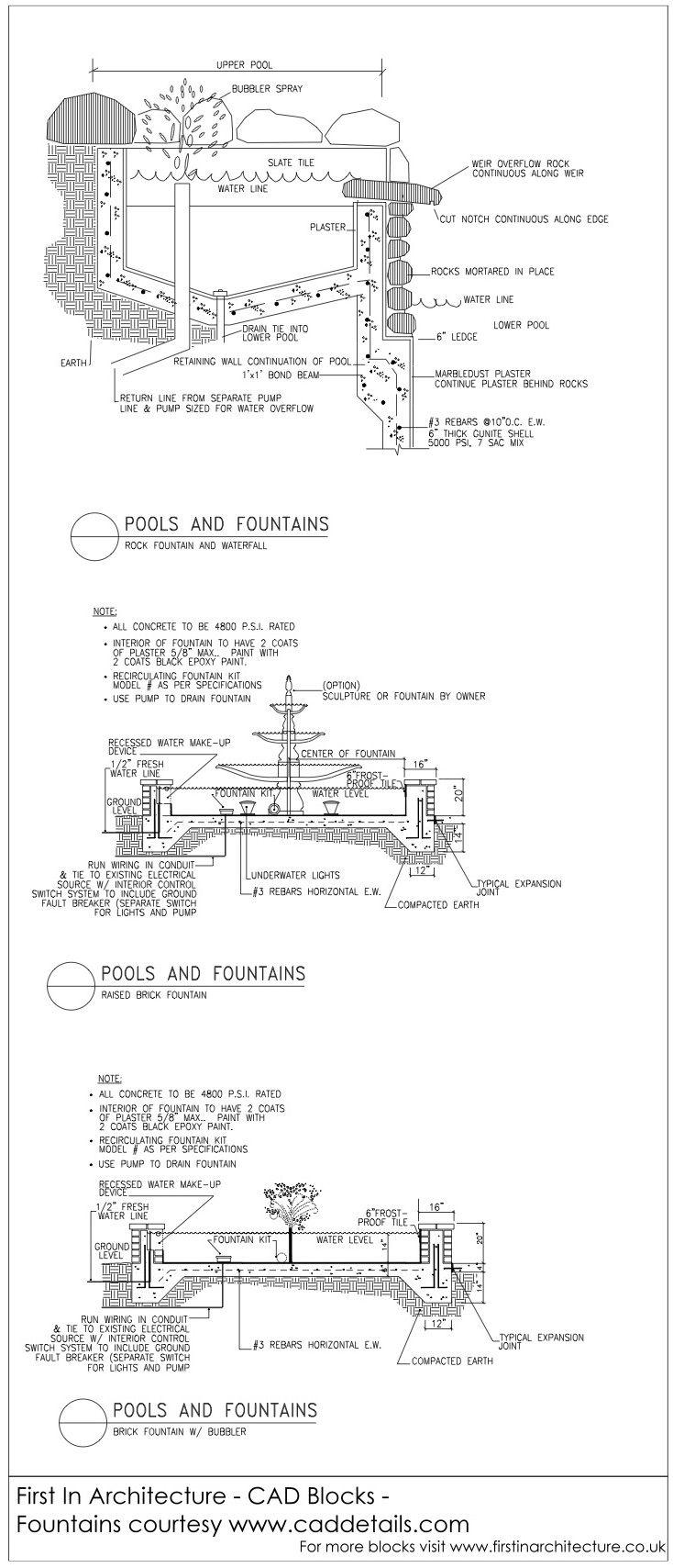FIA CAD Blocks Fountains