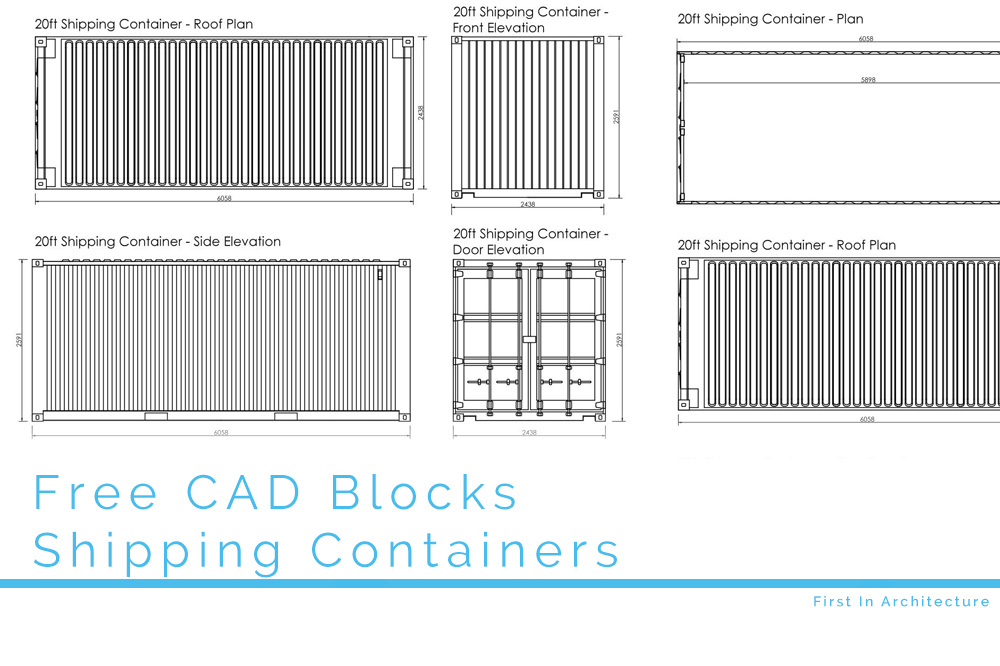 Free Cad Blocks Shipping Containers