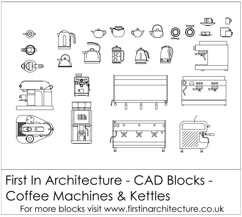 FIA CAD Blocks Coffee and Tea