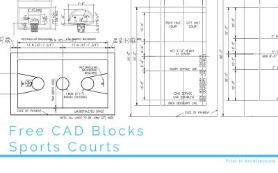 Free CAD Blocks – Sports Courts