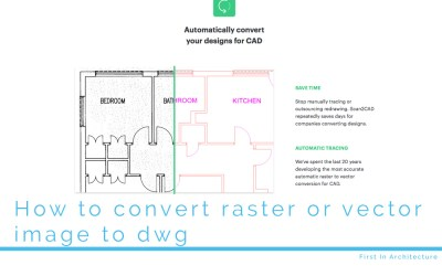 How to convert raster or vector image to dwg