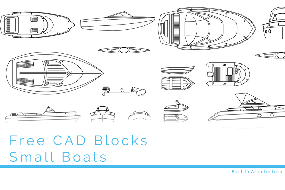 Free CAD Blocks – Small boats