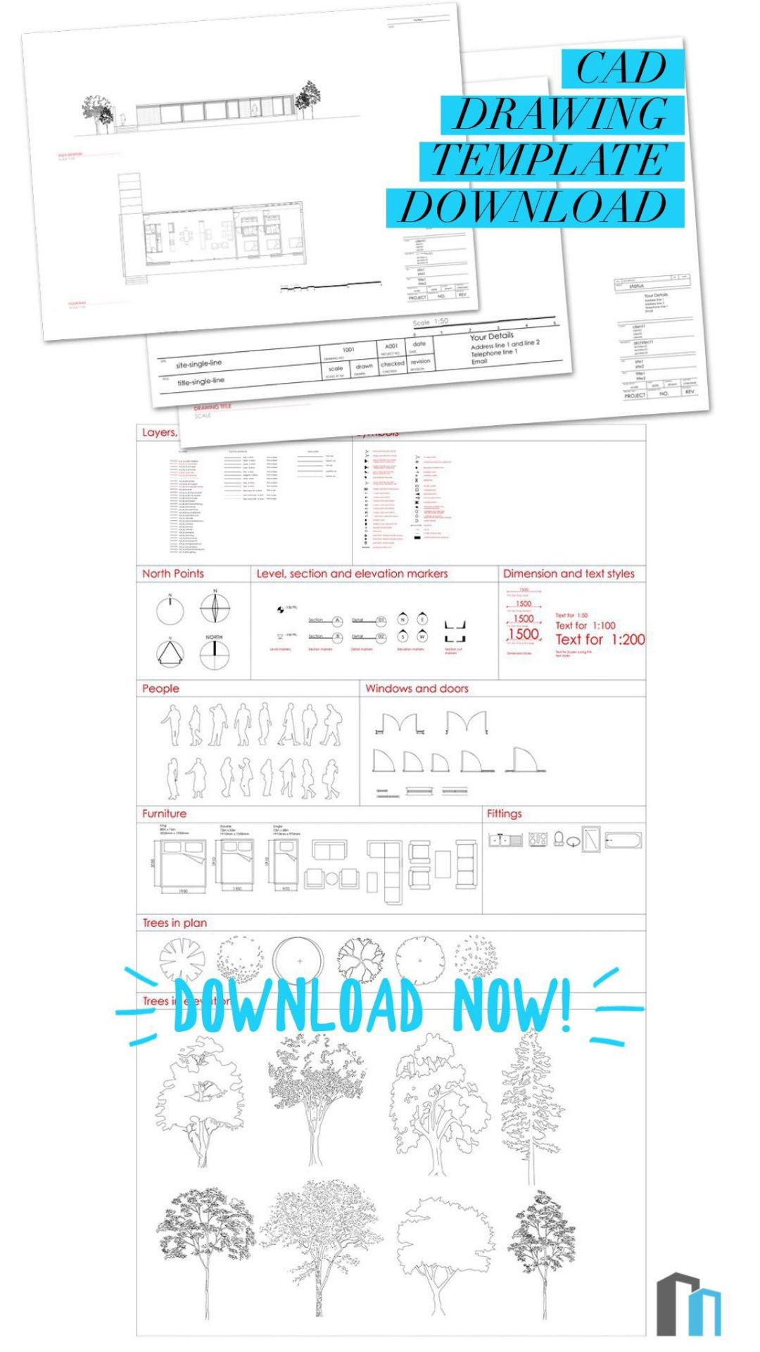 CAD Drawing Template Download - First In Architecture