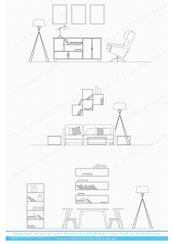 cad blocks furniture
