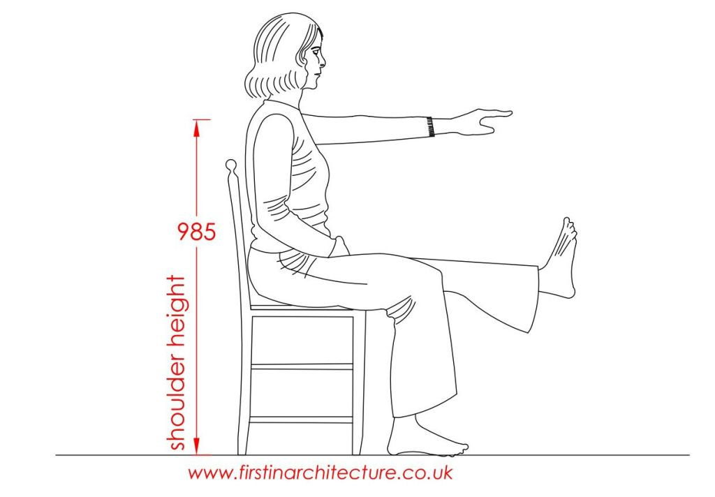 03 Shoulder height of woman sitting