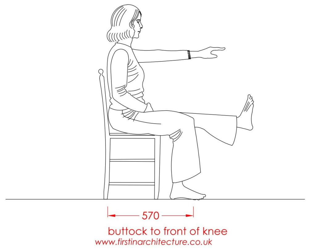 08 Buttock to knee woman sitting