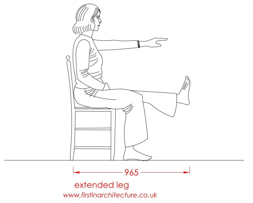 09 Extended leg of woman sitting