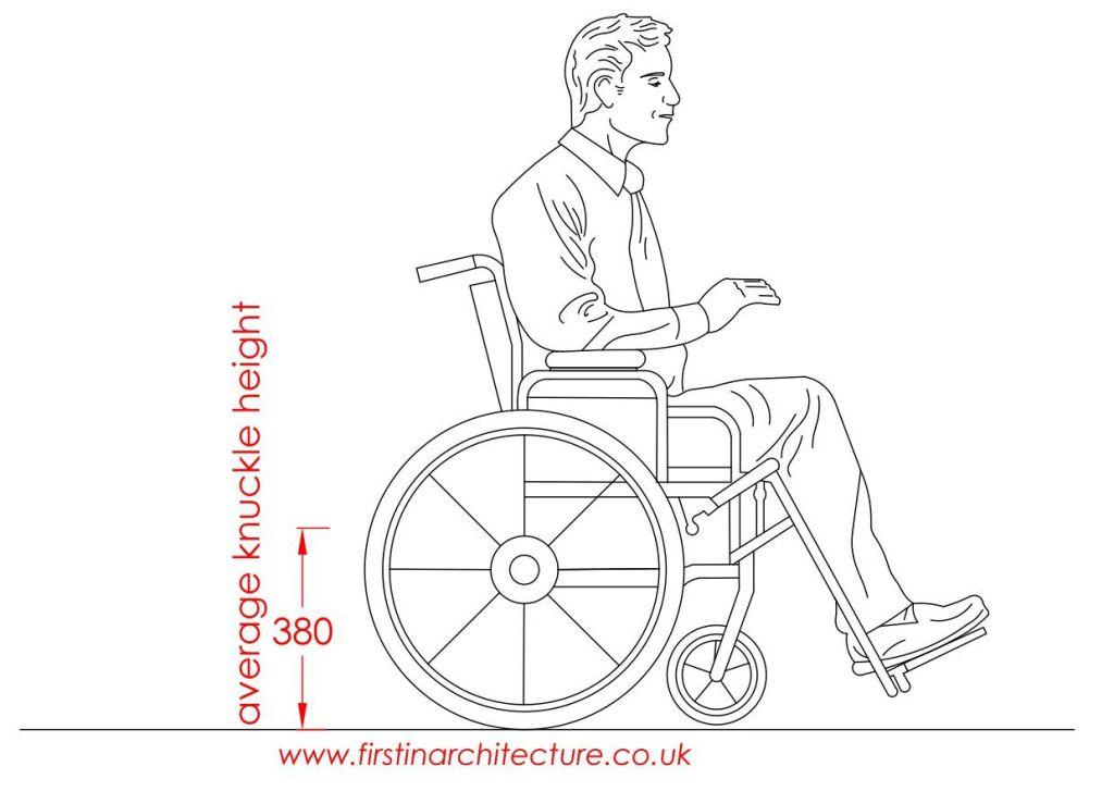 09 average knuckle height man in wheelchair