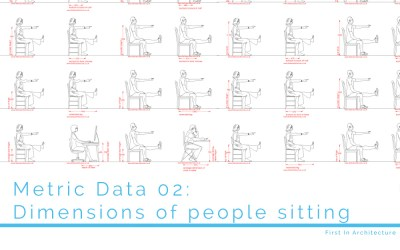Metric Data 02 Average dimensions of person sitting