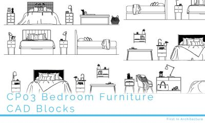 CP03 CAD Blocks Bedroom Furniture