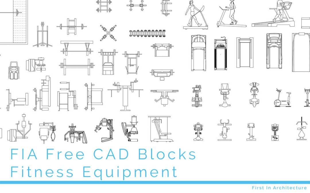 FIA Free Fitness Equipment CAD Blocks