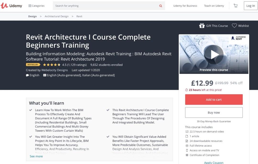Revit Beginners course