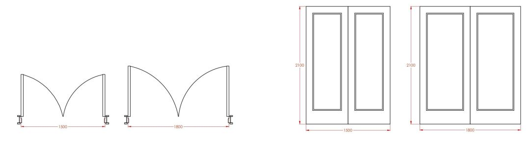 Standard french door sizes 1