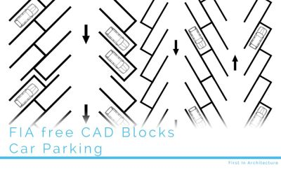 Free CAD Blocks – Car Parking