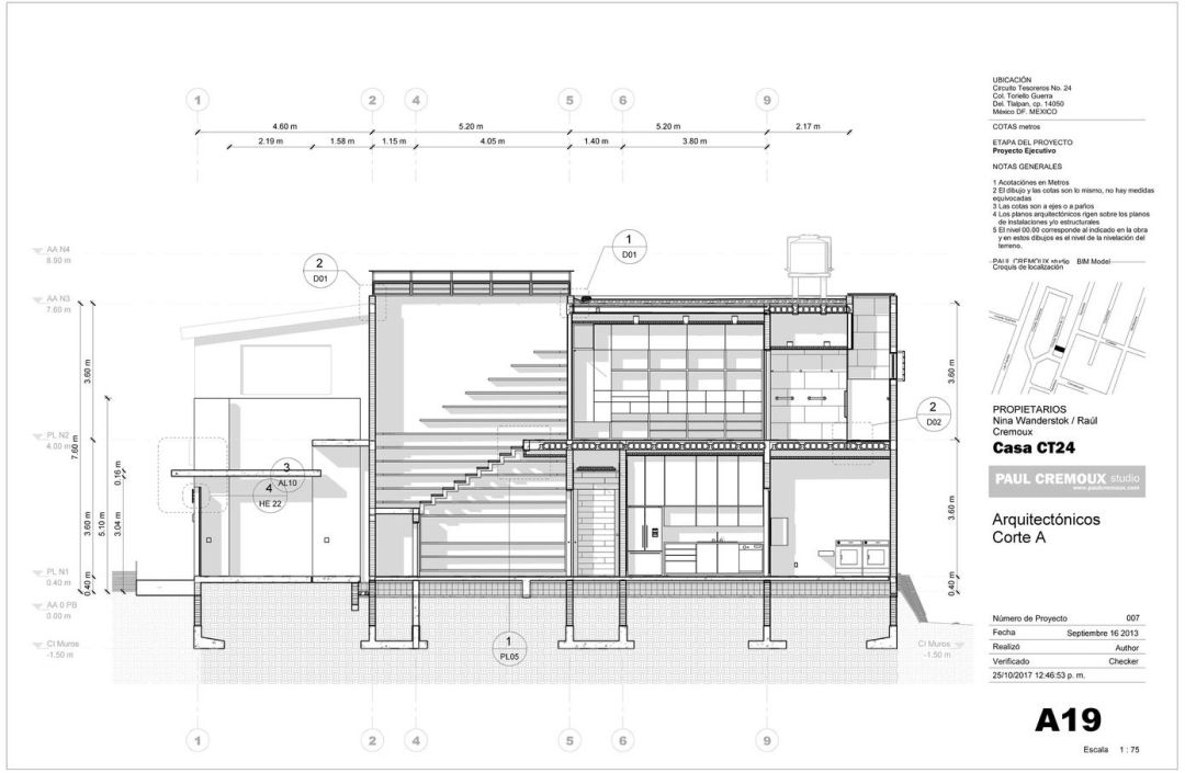 Architecture technical drawing layout 01