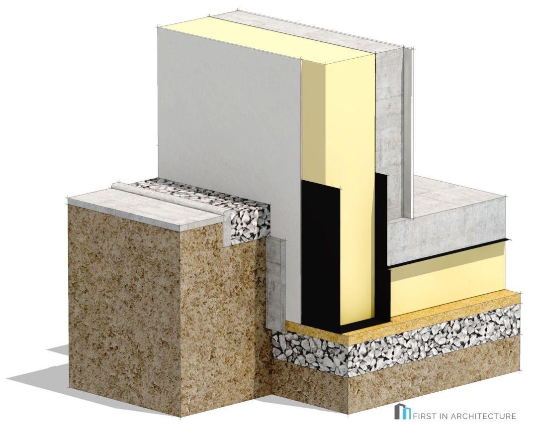 Passivhaus foundation detail concrete construction