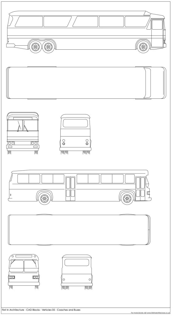 FIA CAD Blocks Buses and Coaches
