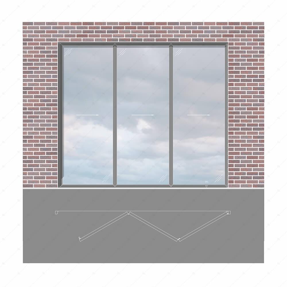 Sieger Bifold door elevation with plan thumb