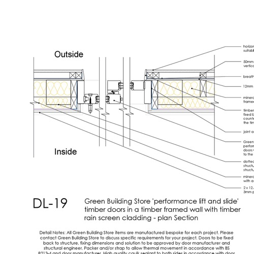 DL19 lift and slide timber door detail thumb