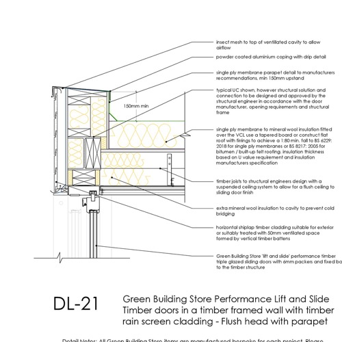 DL21 timber lift and slide door head detail thumb