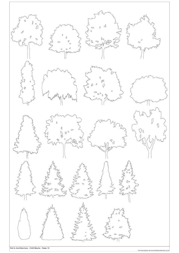 FIA Free Tree CAD Blocks 12