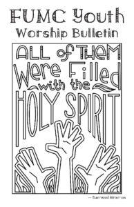 May 31 Youth Bulletin « First United Methodist Church, Los