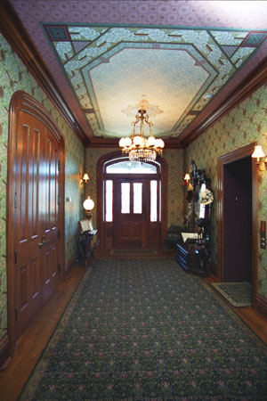 The Saxton McKinley House Front Entry and Stairhall