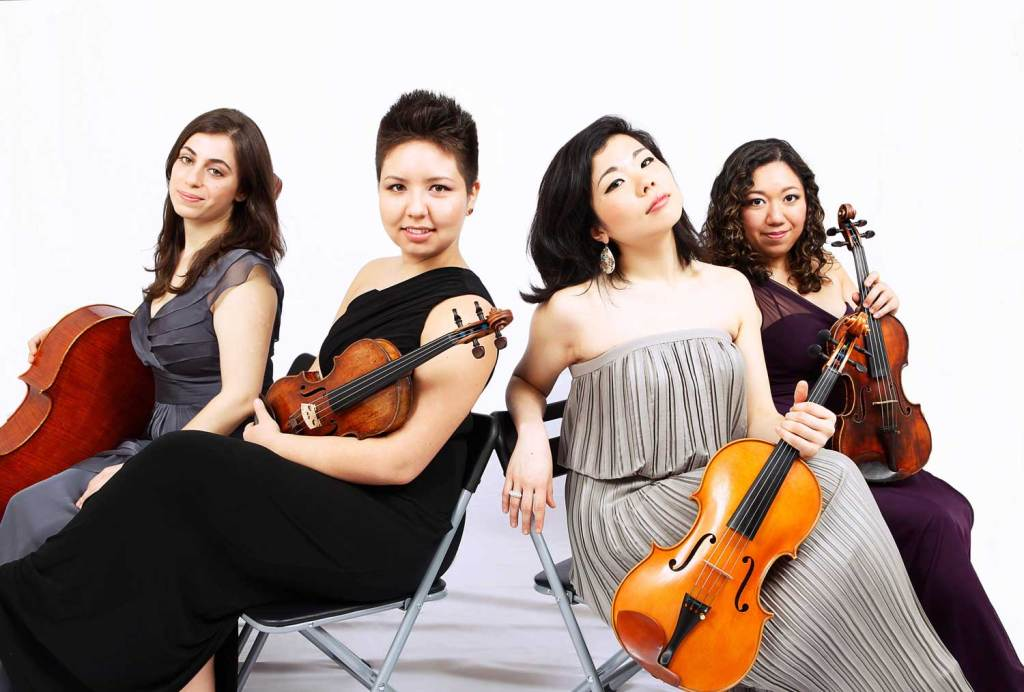 The Aizuri String Quartet of New York City