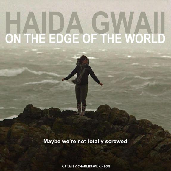 Alex Martinuik on the rocks. Haida Gwaii: On the Edge of the World.