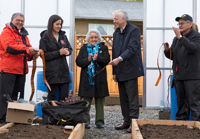 Over 100 Kitkatla residents  came to celebrate the new community kitchen and garden.