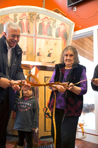 Ribbon-cutting ceremony for the Gitxaala Nation's new community kitchen and greenhouse garden.