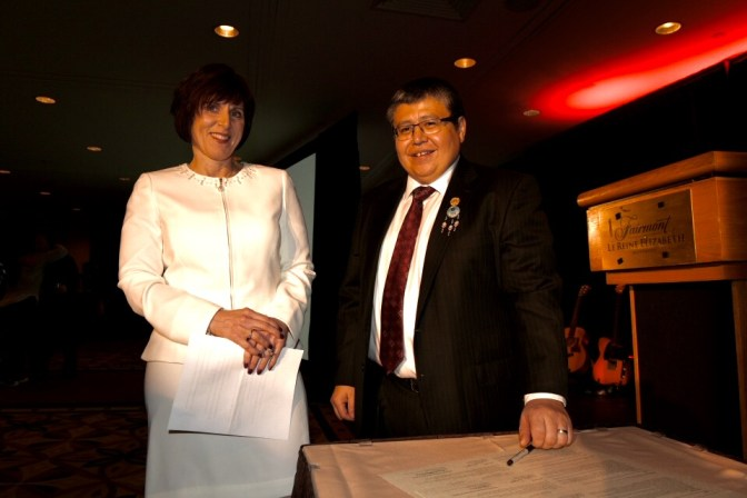 Tashia Batstone (Vice-President of Education Services at CPA Canada) and Terry Goodtrack (AFOA Canada President CEO)