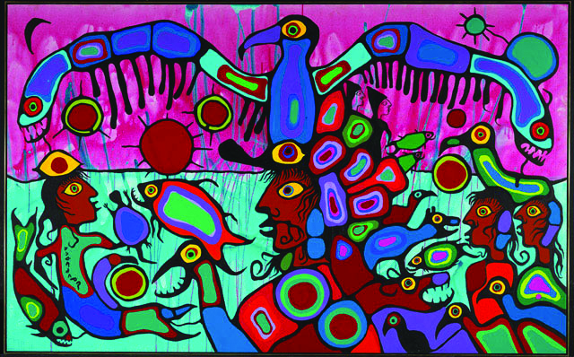 Artist and Shaman Between Two Worlds by Norville Morisseau