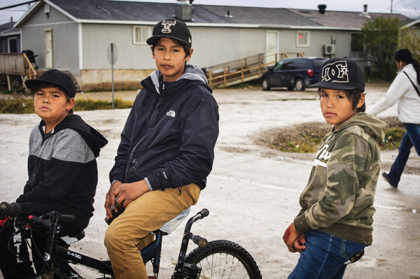 Young boys in Attawapiskat. Picture by Danny Beaton