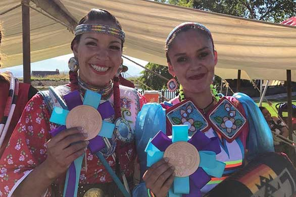 Sandra Yellow Horn of the Peigan Nation won first place at the inaugural competition, while Violet John of the Kehewin First Nation took the runner-up trophy.