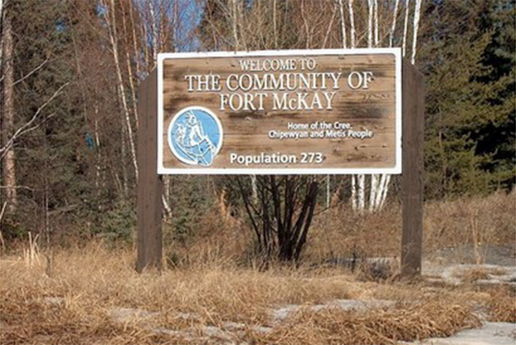 Community of Fort McKay sign