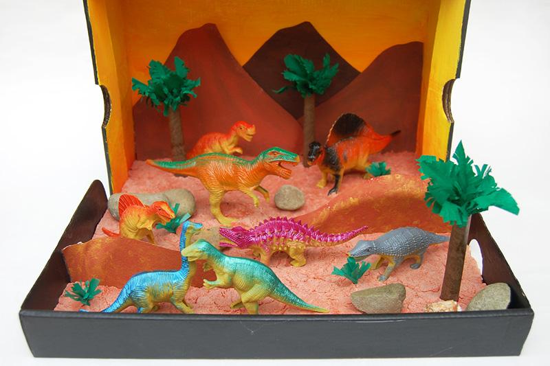 Dinosaur Diorama  Kids Crafts  Fun Craft Ideas  FirstPalettecom