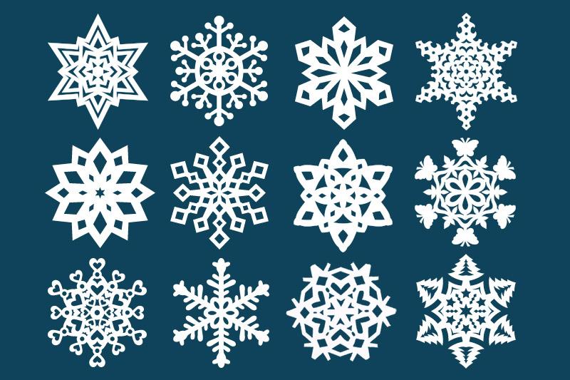 paper snowflake kids crafts