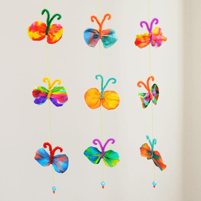 Butterfly Mobile Kids Crafts Fun Craft Ideas Firstpalette Com