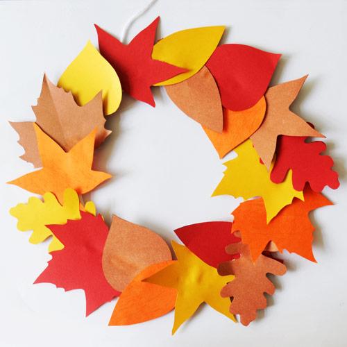 Fall Leaf Wreath Kids Crafts Fun Craft Ideas Firstpalette Com