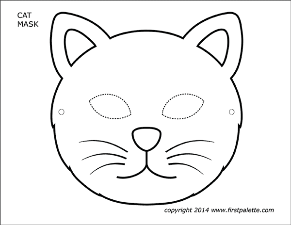 Cat Masks Free Printable Templates & Coloring Pages