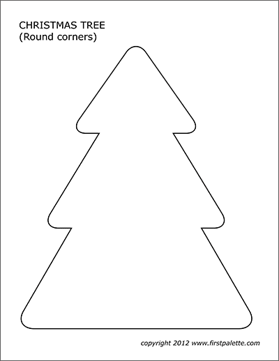 Christmas Tree Templates Free Printable Templates Coloring Pages Firstpalette Com