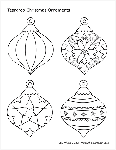 christmas ornament printable templates