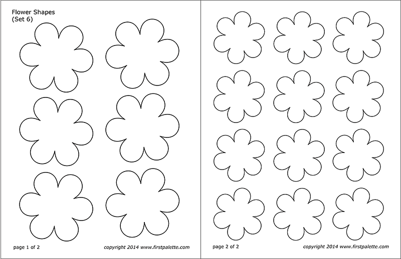 Flower Shapes Free Printable Templates & Coloring Pages